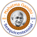 Mahatma Gandhi Sesquicentennial – Houston Logo